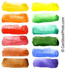 watercolor, getrokken, abstract, achtergrond, hand