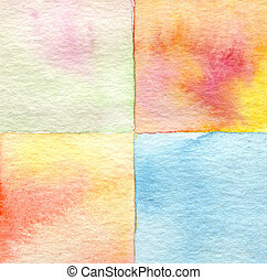 watercolor, geverfde, abstract, plein, achtergrond