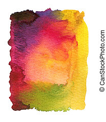 watercolor, geverfde, abstract