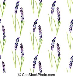 watercolor, geverfde, pattern., seamless, lavendel