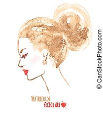 Watercolor girl.