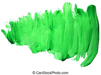watercolor green paint abstract isolated blot