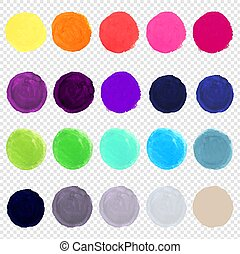 watercolor, groot, blots, set