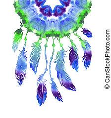 Watercolor hand drawn Dreamcatcher