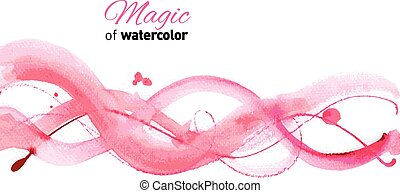 Watercolor hand made background.