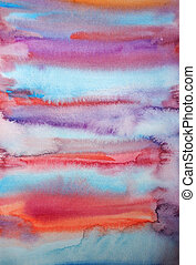 Watercolor hand painted art background for scrapbooking design