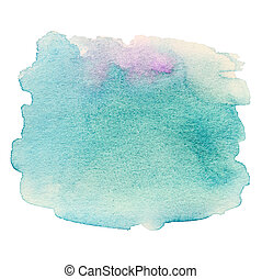 Watercolor Hand Painted Background. Wet Watercolor Wash. Abstract Water-color Background. Ombre Watercolour Backdrop, stain, drop