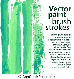 Watercolor hand painted brush strokes
