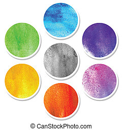 Watercolor hand painted circles  for your business