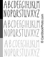 Watercolor handwritten font
