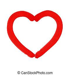 Watercolor heart. Vector illustration.