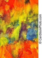watercolor, helder, schilderij