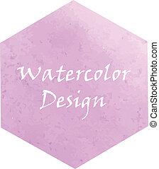 Watercolor hexagon