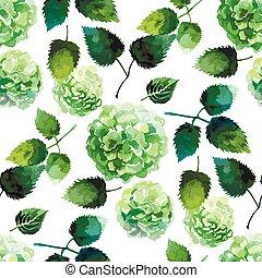 Watercolor hydrangea pattern