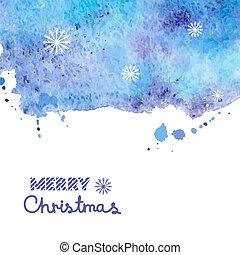 watercolor, illustratie, achtergrond, kerstmis, vector