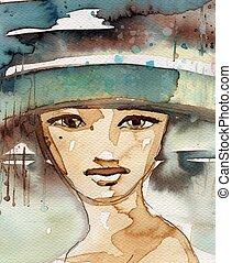 watercolor illustration,