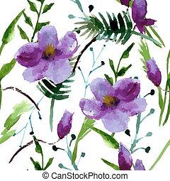 Watercolor Illustration of Magnolia Flowers