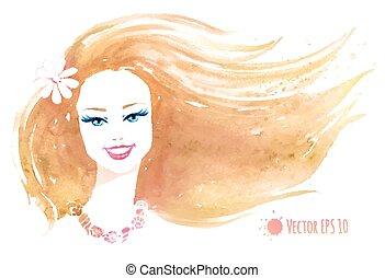 Watercolor illustration.