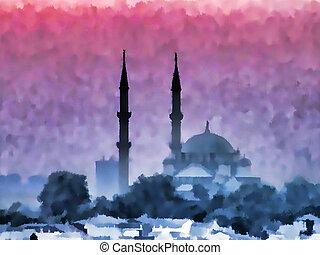 Watercolor Istanbul