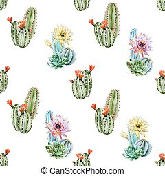 watercolor, model, cactus
