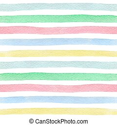watercolor, model, gestreepte , seamless