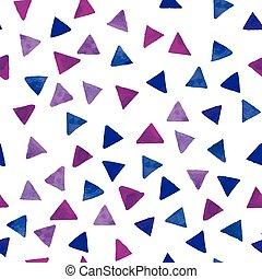 Watercolor multicolor triangles pattern.