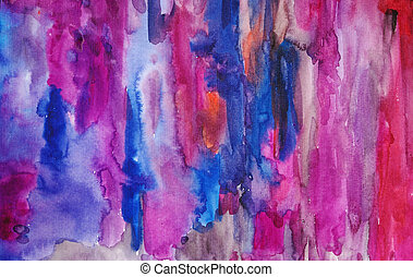 Watercolor multicoloured hand painted art background for scrapbooking, created by my own