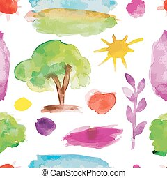 Watercolor nature set for your design