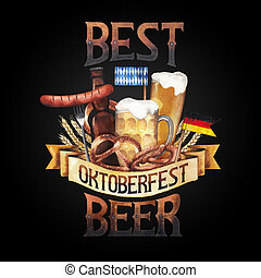 Watercolor octoberfest design