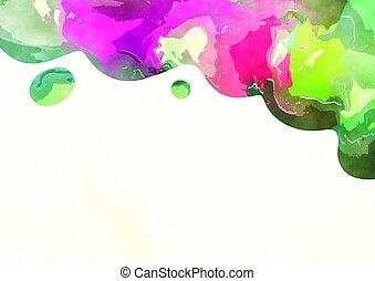 Watercolor Page Border Decoration