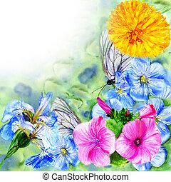 watercolor painting colour