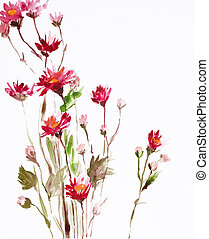 painting of flowers - watercolor painting of flowers, use as...