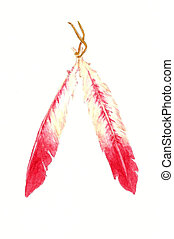 Red Feathers - Watercolor Painting of Red Feathers