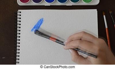 Watercolor painting. Watercolor blots