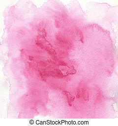 watercolor paints on a rough texture paper