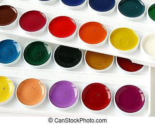 watercolor paints set