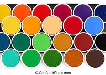 Watercolor palette - Multicolored watercolors