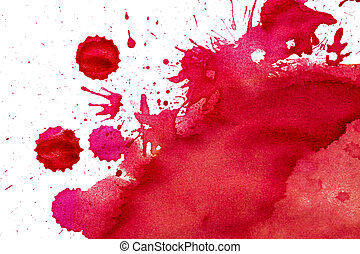watercolor paper painted red on white watercolor