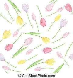 watercolor, pattern., seamless