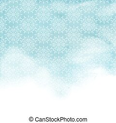 watercolor patterned background - Decorative pattern on a...
