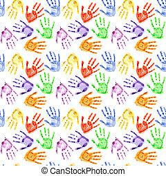 watercolor, printer, hånd