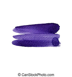 Watercolor purple stripe abstract background