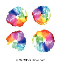 Watercolor rainbow background