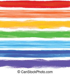 Watercolor rainbow background with some stripes - Watercolor...
