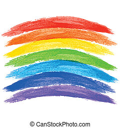 watercolor rainbow on white background