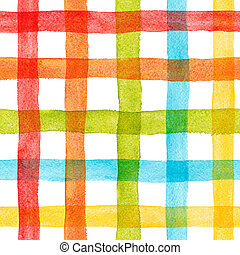 Watercolor rainbow stripes pattern