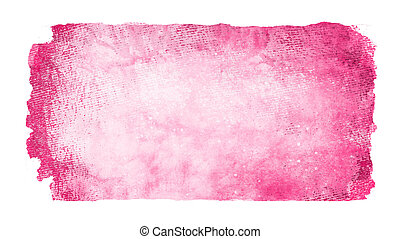 Watercolor rectangle background isolated on white