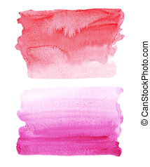 watercolor red and pink backgrounds set. abstract gradient pattern of liquid
