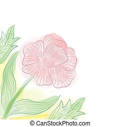 Watercolor red flower design
