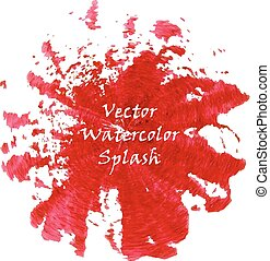 Watercolor red splash